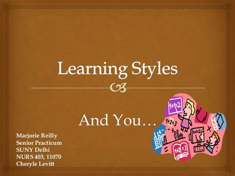 Learning Styles Ppt Presentation Styles Ppt