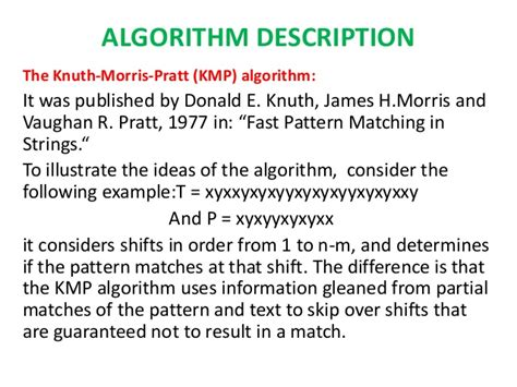 fast pattern matching algorithm implementation of different pattern recognition algorithm