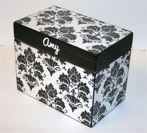 Handmade Recipe Box - recipe box 4x6 wooden recipe box 4 x 6 card box custom