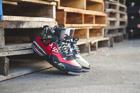 Supreme X Bape bape x supreme easy to use stencils to customize shoes