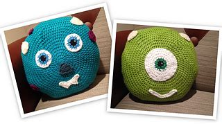 gopher pattern works inc ravelry monsters inc inspired pillow pattern by melissa