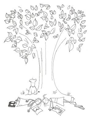 beech tree coloring page coloring pages violet magnolia under the beech tree