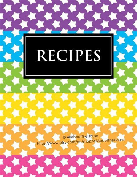 printable recipe binder covers editable printable binder cover notebook planner cover