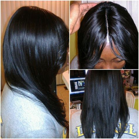 invisible sew in weave hairstyles invisible part sew in hair pinterest