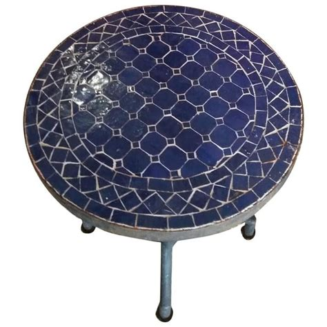 Mosaic L Base by All Blue Mosaic Table Wrought Iron Base For Sale At 1stdibs