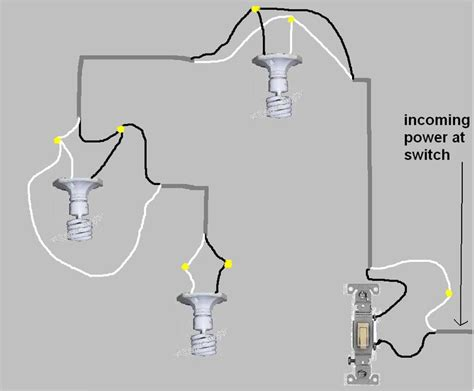 wiring diagram 3 lights one switch with a 3 way switch