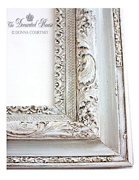 chalk paint mirror frame the decorated house how to antique glaze a perfectly