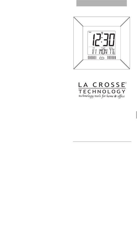 la crosse technology clock ws  user guide