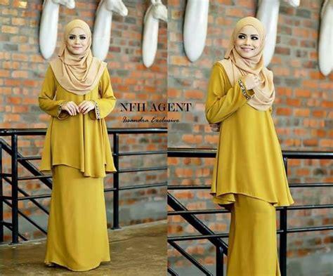 Baju Kurung Moden Gold busana muslimah