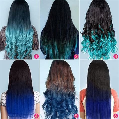types of ombre hair color top 5 black brown hair extensions with blue tips on