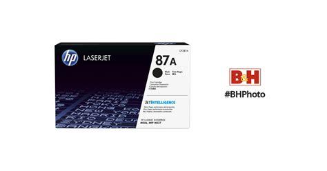 Toner Hp Laserjet 87a Cf287a Original Bergaransi hp 87a black laserjet toner cartridge cf287a b h photo