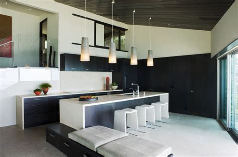 black kitchen lights sleek kitchen in black and white with lovely pendant lighting decoist