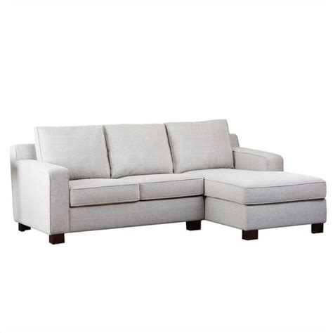 Abbyson Living Regina Fabric Sectional Sofa In Gray Rl Abbyson Sectional Sofa