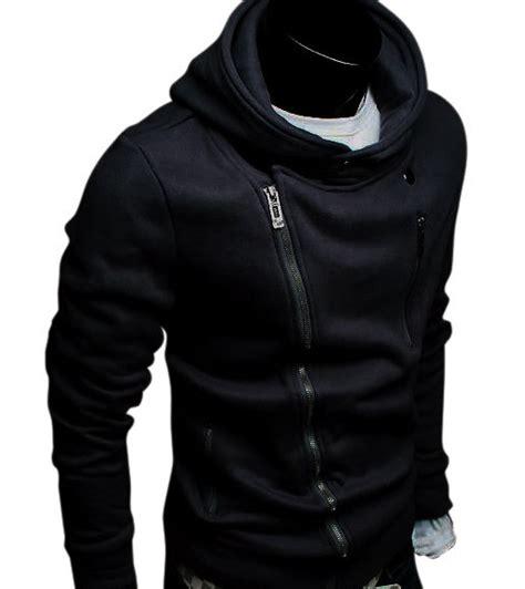 Jaket Korean Hoodie 19 Grayscale Size z05 mens classic fashion slim rider zip up hoody jackets 3