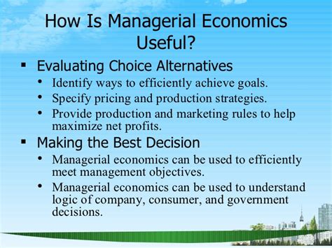 Managerial Economics Ppt For Mba by Nature And Scope Of Managerial Economics Ppt Mba 2009