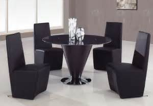 Glass top leather kitchen dinette sets contemporary dining tables