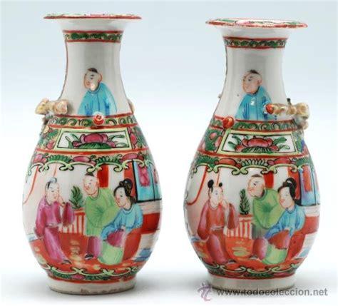 floreros antiguos de porcelana pareja jarrones en porcelana china de canton s comprar