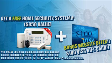 Authorize Visa Gift Card - free home security system 100 visa gift card use code hpsweb see website for