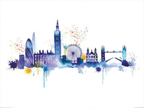 Latest Home Decorating Trends by London Skyline Art Print By Summer Thornton At King Amp Mcgaw