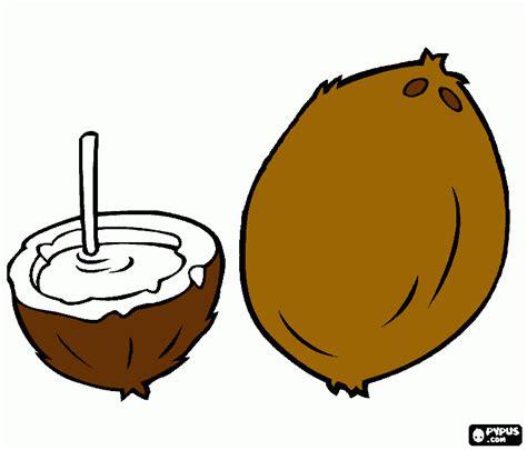 coloring coconut coconut coloring page printable coconut