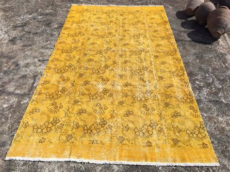 can you dye an area rug yellow dyed rug mustard area rug vintage knotted