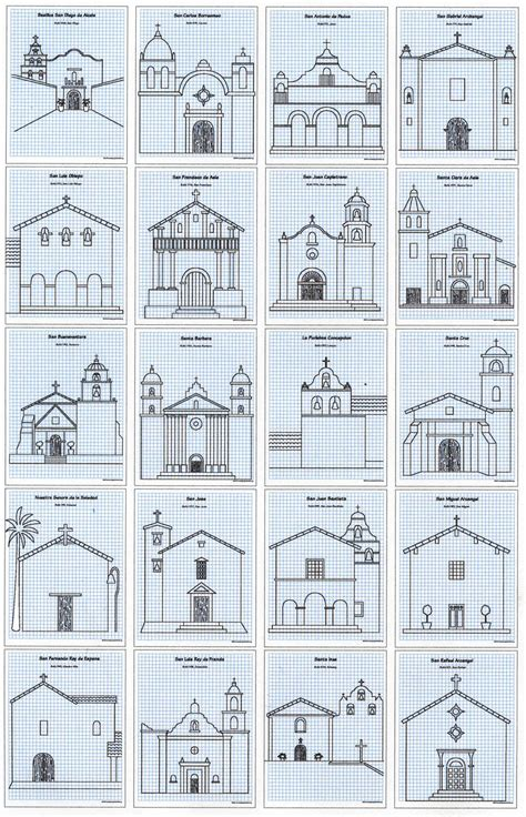 Drawing Guide California Missions Drawing Guide Projects For