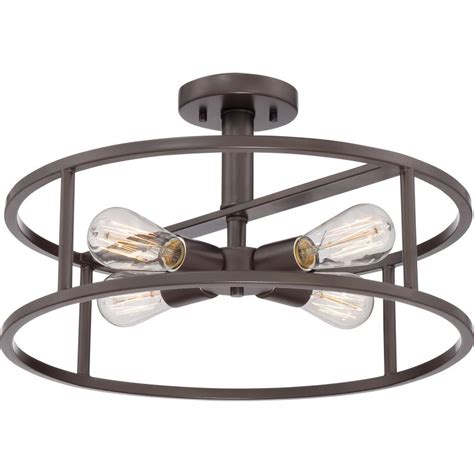 4 Bulb Ceiling Light Fixture Quoizel Nhr1718wt Western Bronze New Harbor 4 Light 18 Quot Wide Semi Flush Ceiling Fixture With
