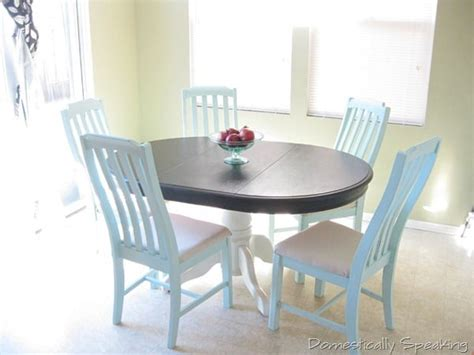 Painted Kitchen Table And Chairs Kitchen Nook Domestically Speaking