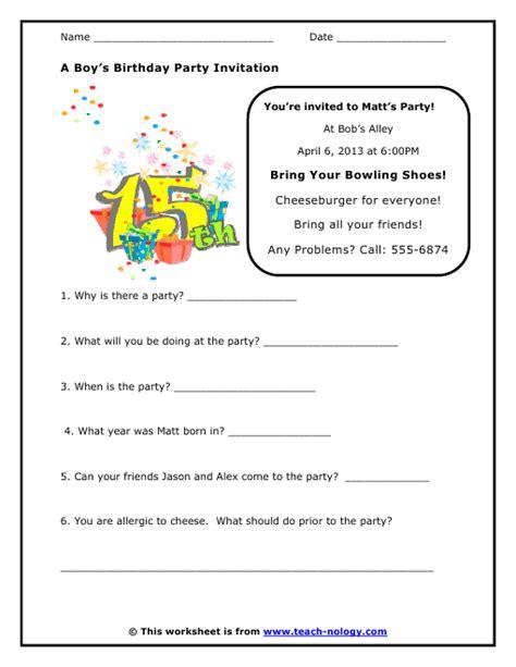 Invitation Letter Worksheet all worksheets 187 worksheets printable worksheets guide for children and parents