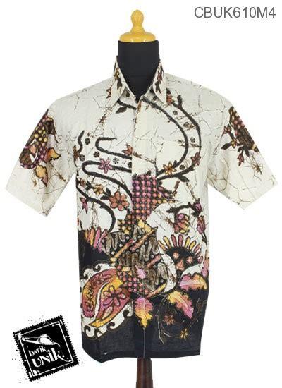 Kemeja Batik Panjang Motif Kembang Ceplok Runcing Kp59m3 baju batik kemeja motif kembang ceplok runcing kemeja pendek murah batikunik