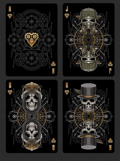 bicycle steampunk bandits playing cards deck  gamblers