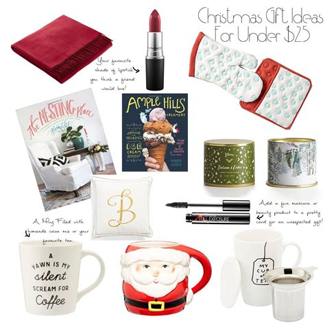 budgeting for christmas and gift ideas for under 25