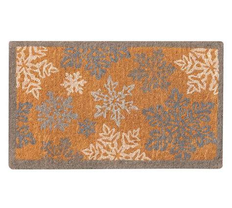 Winter Doormat Snowflake Doormat Pottery Barn