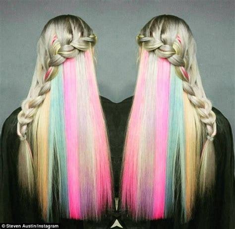 secret color show their secret rainbow hair colour