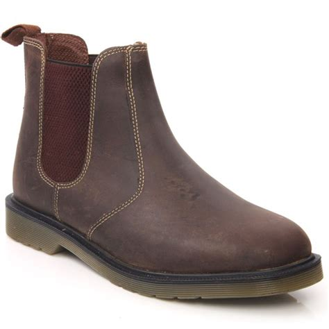 unze veri mens casual leather pull on chelsea ankle boots