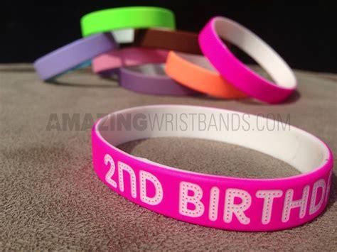 make a custom rubber st create custom kid s birthday wristbands