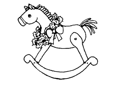 coloring page of a rocking horse rocking horse picture cliparts co