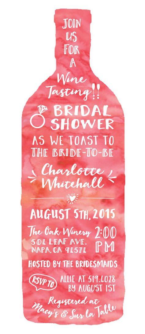 Wine Tasting Wedding Shower Invitations