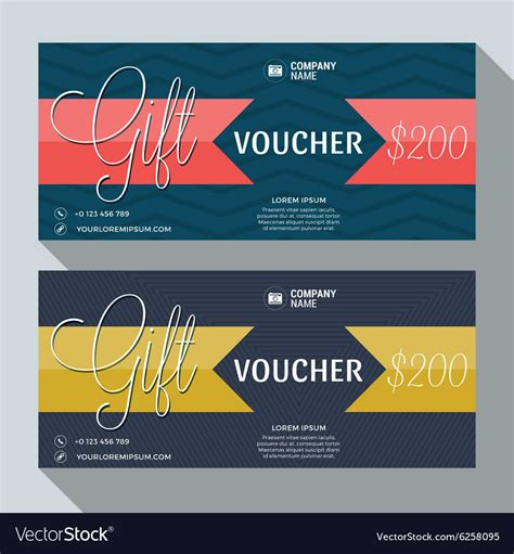 20 discount card template gift voucher design print template discount card vector image