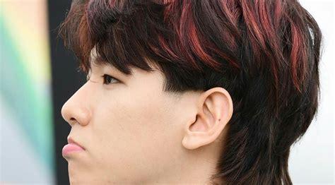 viral  mullet hairstyle kpop model rambut laki laki