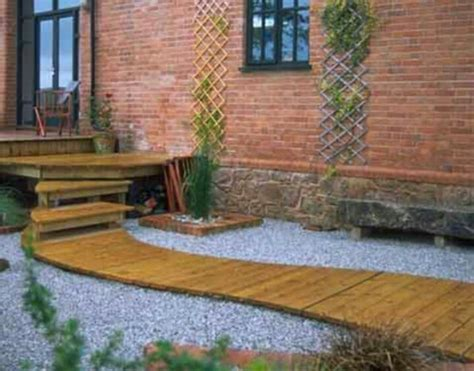 Decked Garden Ideas Deck Concrete Steps With Walkway Landscape