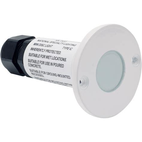 nsl ledmd cw wh led minidisc light cool white led