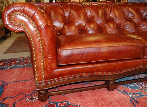 pullman couch h m 5190 teton sofa in pullman brick burnished leather