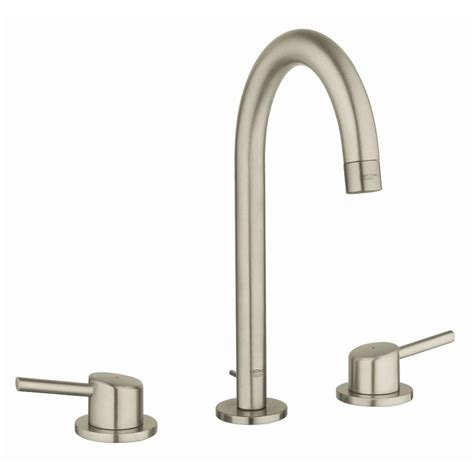 grohe concetto bathroom faucet shop grohe concetto brushed nickel 2 handle widespread