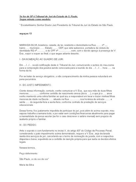 carta formal juiz modelo de carta de dispensa de convoca 231 227 o 224 juri popular