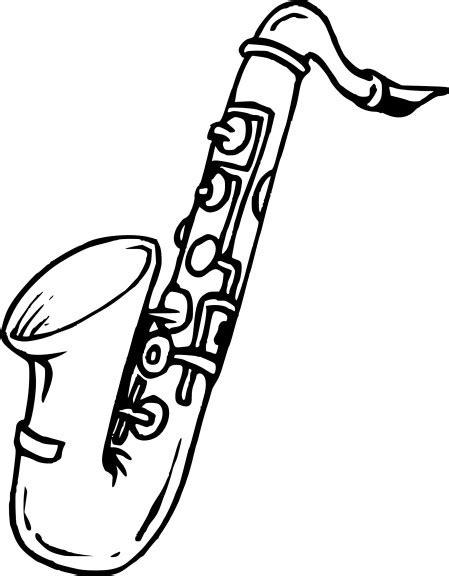 Coloriage Saxophone et dessin à imprimer