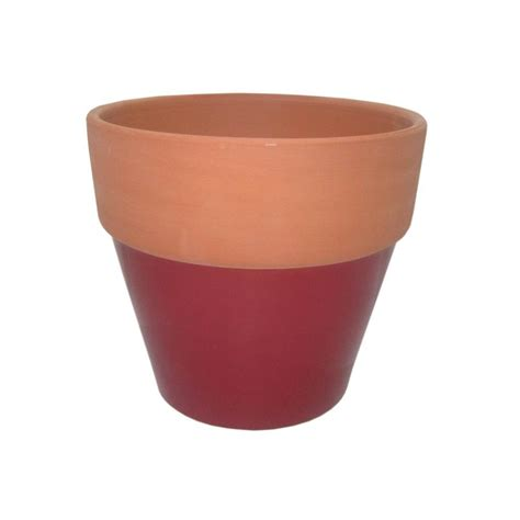 8 1 2 in glazed clay flower pot ybh026 the home depot