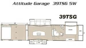 Eclipse Attitude Toy Hauler Floor Plans 2016 Attitude Toy Haulers For Sale