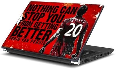 Skin Laptop Garskin Manchester United Mu robin persie t shirts sweatshirts laptop skins and posters in india