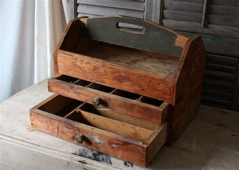 Handmade Tool Box - lil fish studios a thrifting we will go